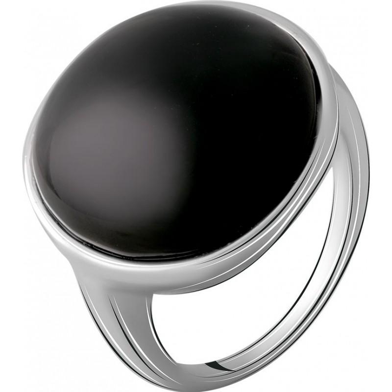 Серебряное кольцо SilverBreeze с натуральным ониксом 18.517ct (2069577) 17 размер