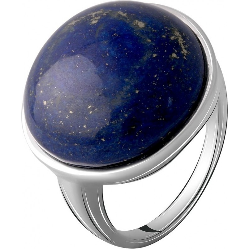 Серебряное кольцо SilverBreeze с натуральным лазуритом 18.517ct (2069478) 17 размер