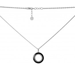 Серебряное колье SilverBreeze с керамикой (2068938) 500 размер