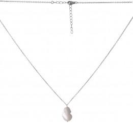 Серебряное колье SilverBreeze с натуральным жемчугом барочным 61.2ct (2068907) 500 размер