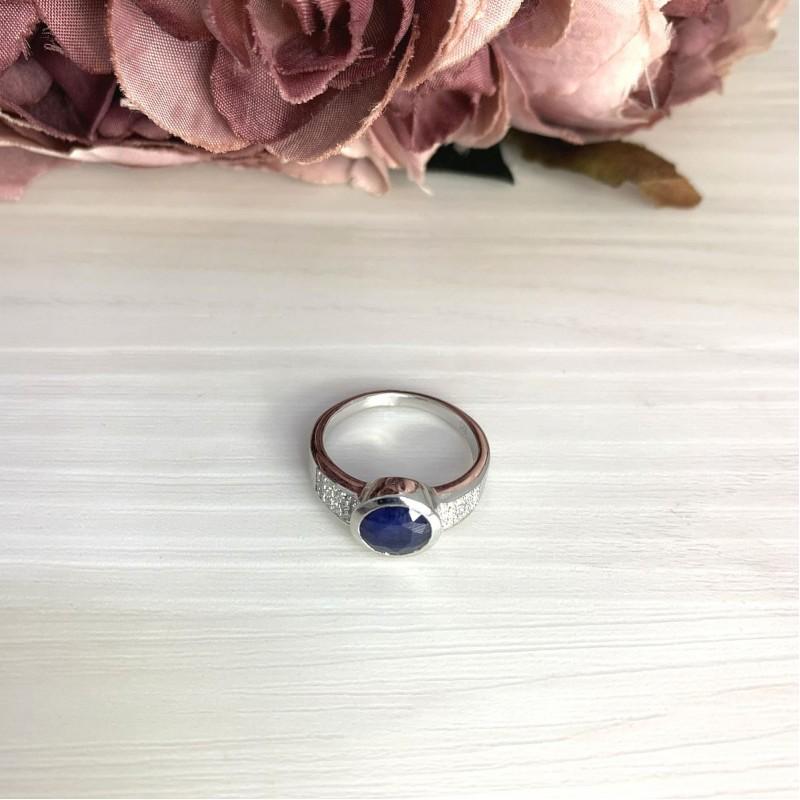 Серебряное кольцо SilverBreeze с натуральным сапфиром 2.502ct (2068754) 18 размер