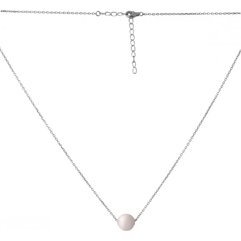 Серебряное колье SilverBreeze с натуральным жемчугом барочным 10.435ct (2068709) 500 размер