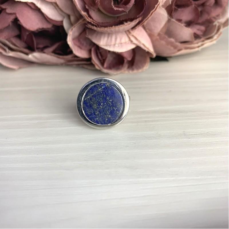 Серебряное кольцо SilverBreeze с натуральным лазуритом 3.265ct (2068594) 17 размер
