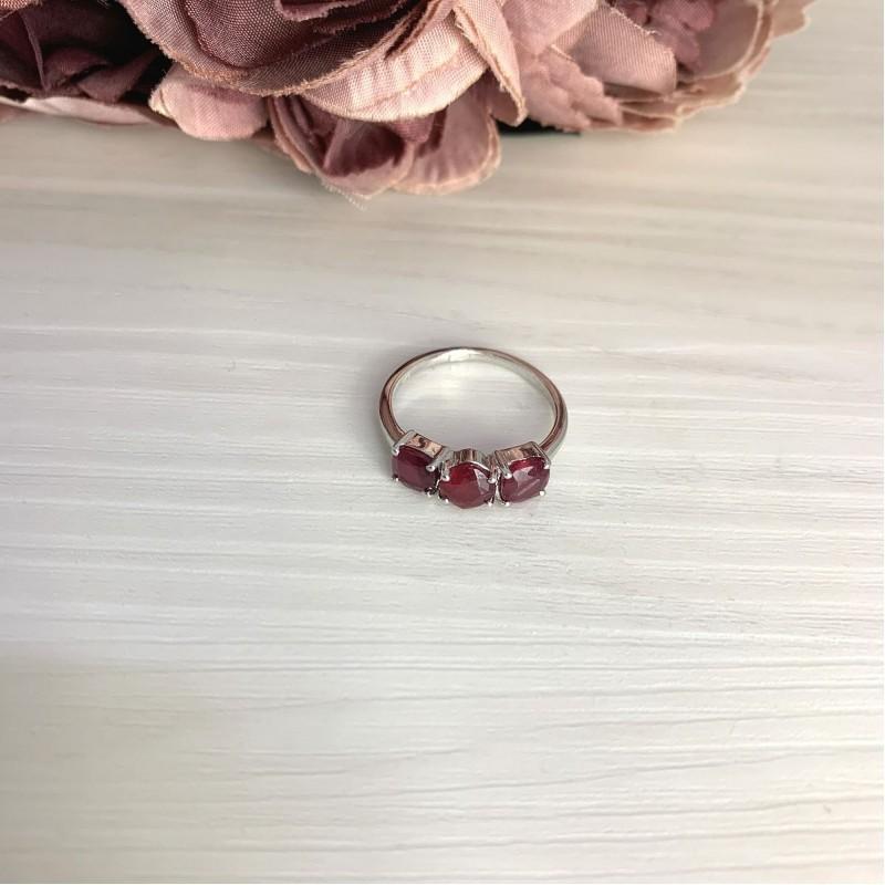 Серебряное кольцо SilverBreeze с натуральным рубином 2.45ct (2068532) 18 размер