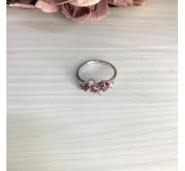 Серебряное кольцо SilverBreeze с натуральным рубином 1.38ct (2068518) 17.5 размер
