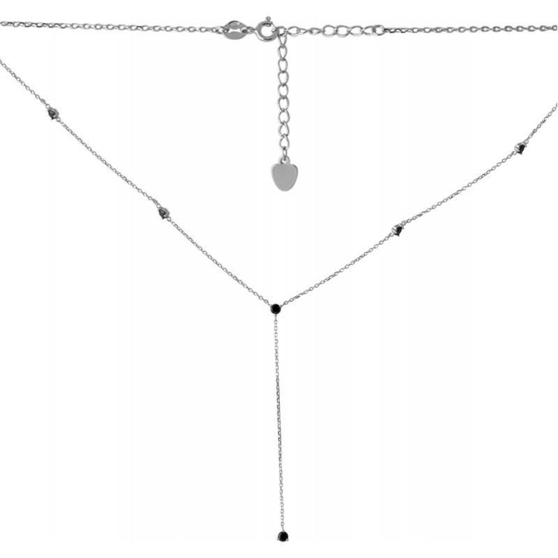 Серебряное колье SilverBreeze с фианитами (2068259) 480 размер