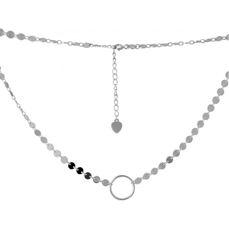 Серебряное колье SilverBreeze без камней (2068242) 380400 размер