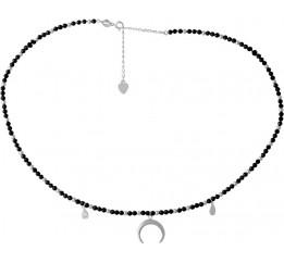 Серебряное колье SilverBreeze с натуральным шпинелью (2068235) 360400 размер