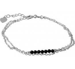 Серебряный браслет SilverBreeze с натуральным шпинелью (2068204) 1720 размер