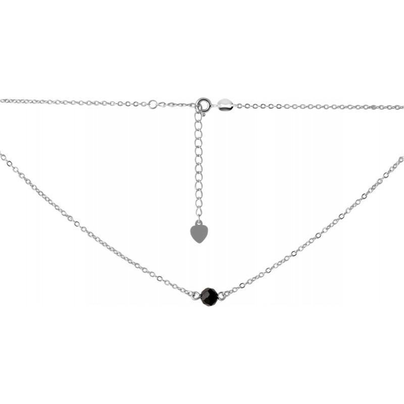 Серебряное колье SilverBreeze с натуральным шпинелью (2068143) 350400 размер