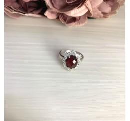 Серебряное кольцо SilverBreeze с натуральным гранатом 2.948ct (2068068) 17.5 размер