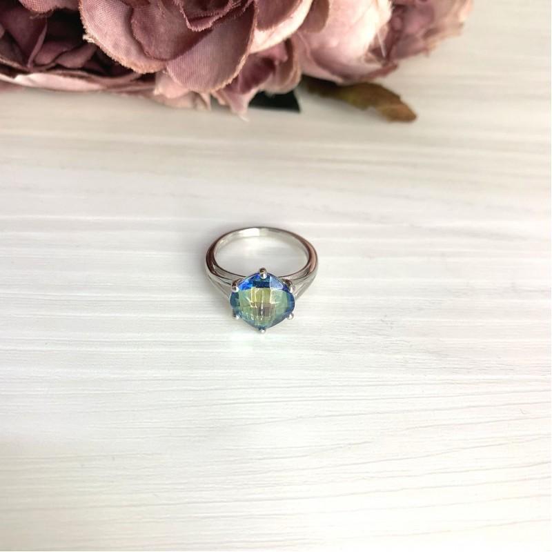 Серебряное кольцо SilverBreeze с натуральным мистик топазом 3.138ct (2068037) 17.5 размер