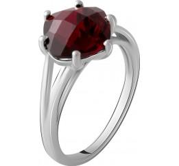 Серебряное кольцо SilverBreeze с натуральным гранатом 3.373ct (2067948) 17.5 размер