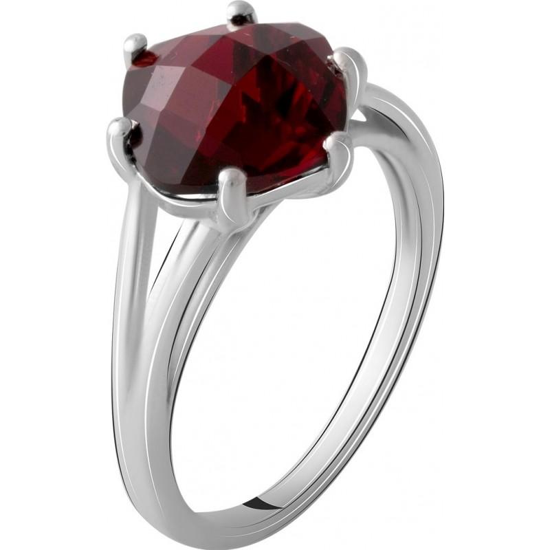 Серебряное кольцо SilverBreeze с натуральным гранатом 3.373ct (2067948) 18 размер