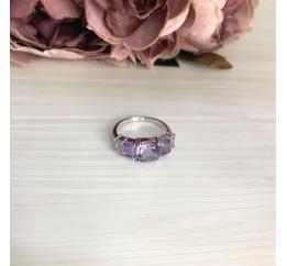 Серебряное кольцо SilverBreeze с натуральным аметистом 3.673ct (2067894) 17.5 размер