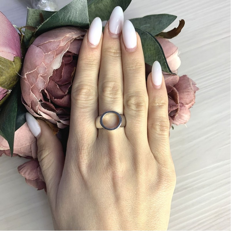 Серебряное кольцо SilverBreeze без камней (2067863) 17.5 размер