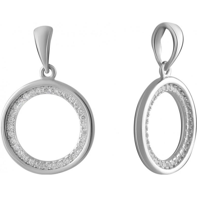 Серебряная подвеска SilverBreeze с фианитами (2067535)