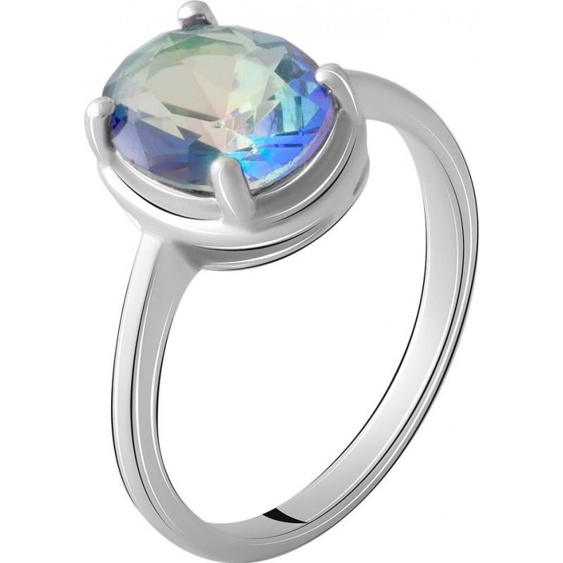 Серебряное кольцо SilverBreeze с натуральным мистик топазом (2067177) 17.5 размер