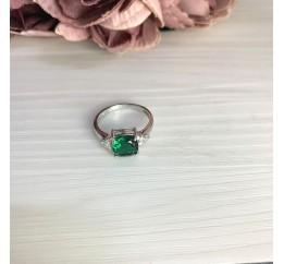 Серебряное кольцо SilverBreeze с изумрудом nano 1.883ct (2067030) 16.5 размер