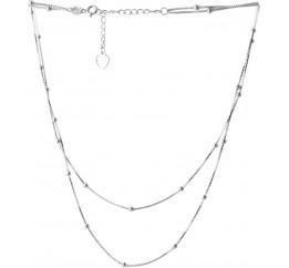 Серебряное колье SilverBreeze без камней (2066644) 500 размер