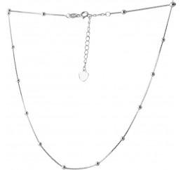 Серебряное колье SilverBreeze без камней (2066637) 500 размер