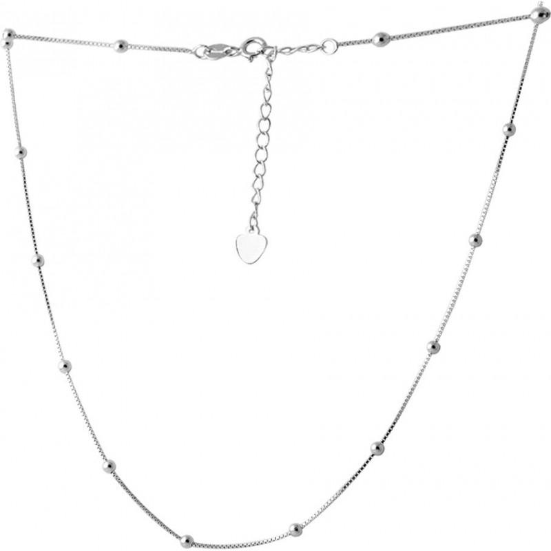 Серебряное колье SilverBreeze без камней (2066637) 6063 размер