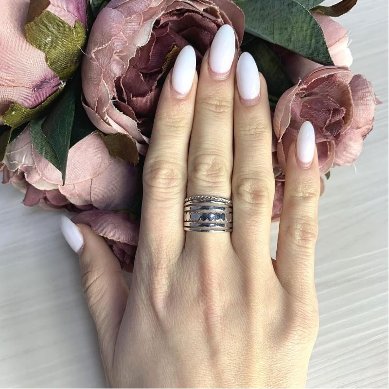Серебряное кольцо SilverBreeze без камней (2066538) 16 размер