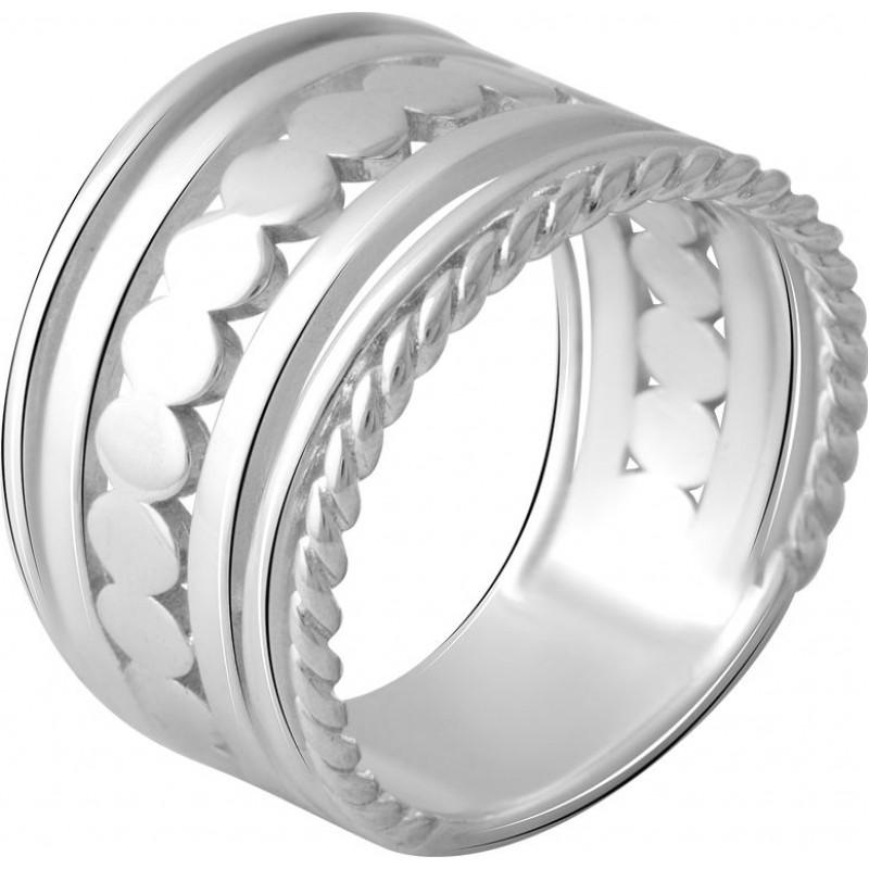 Серебряное кольцо SilverBreeze без камней (2066538) 18 размер