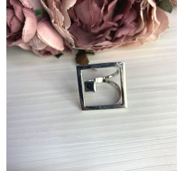 Серебряное кольцо SilverBreeze без камней (2066439) 19 размер