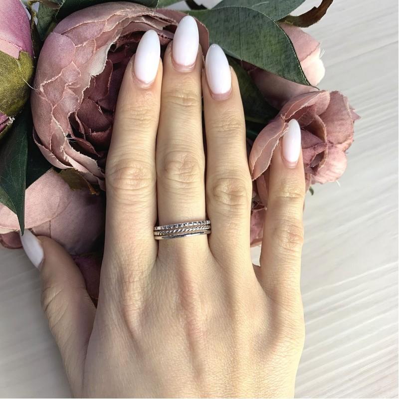 Серебряное кольцо SilverBreeze без камней (2066422) 17.5 размер