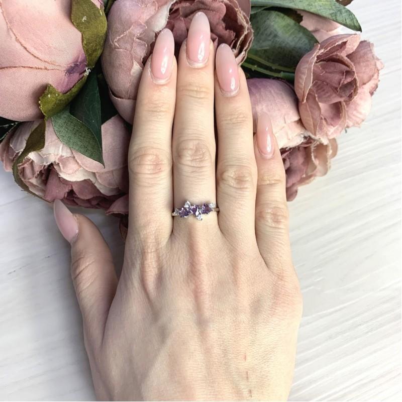 Серебряное кольцо SilverBreeze с олександритом 1.343ct (2065609) 17.5 размер