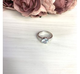 Серебряное кольцо SilverBreeze с натуральным топазом 2.621ct (2065449) 18 размер