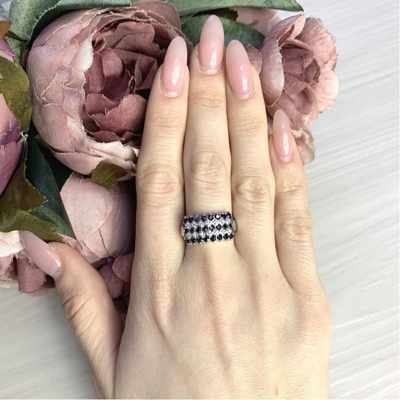 Серебряное кольцо SilverBreeze с натуральным сапфиром 2.133ct (2065425) 18.5 размер