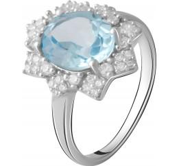 Серебряное кольцо SilverBreeze с натуральным топазом 2.621ct (2065364) 17 размер