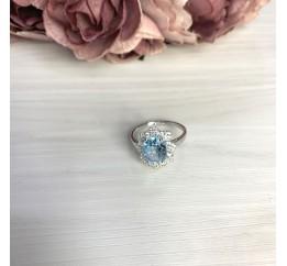 Серебряное кольцо SilverBreeze с натуральным топазом 2.621ct (2065364) 18.5 размер