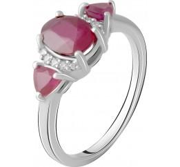 Серебряное кольцо SilverBreeze с натуральным рубином 2.634ct (2065326) 17.5 размер