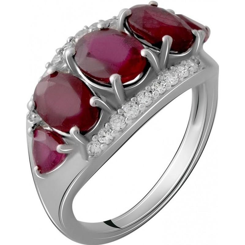 Серебряное кольцо SilverBreeze с натуральным рубином 5.787ct (2065289) 19 размер