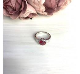 Серебряное кольцо SilverBreeze с натуральным рубином 3.102ct (2065005) 17 размер