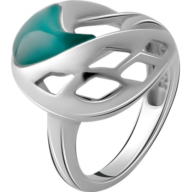 Серебряное кольцо SilverBreeze с кошачим глазом (2064787) 16.5 размер