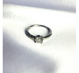 Серебряное кольцо SilverBreeze с натуральными бриллиантом 0.05ct (2064312) 16 размер