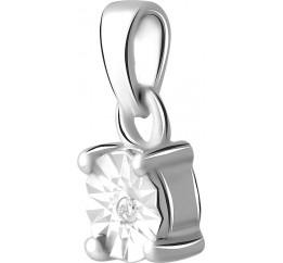 Серебряная подвеска SilverBreeze с бриллиантом 0.01ct (2064299)