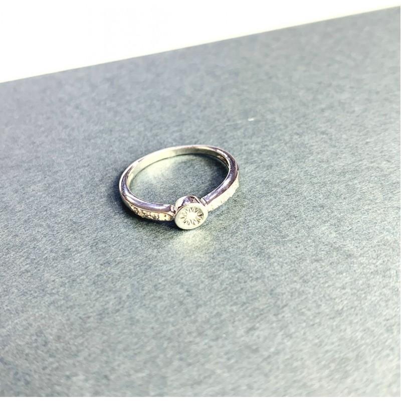 Серебряное кольцо SilverBreeze с натуральными бриллиантом 0.05ct (2064244) 17.5 размер
