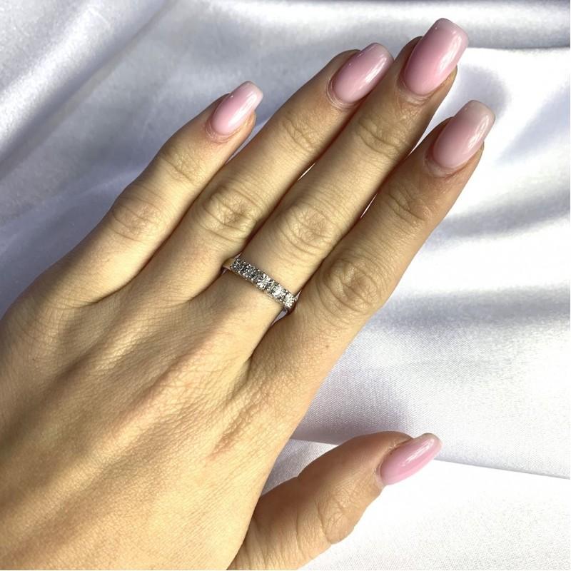 Серебряное кольцо SilverBreeze с натуральными бриллиантом 0.05ct (2064220) 18.5 размер