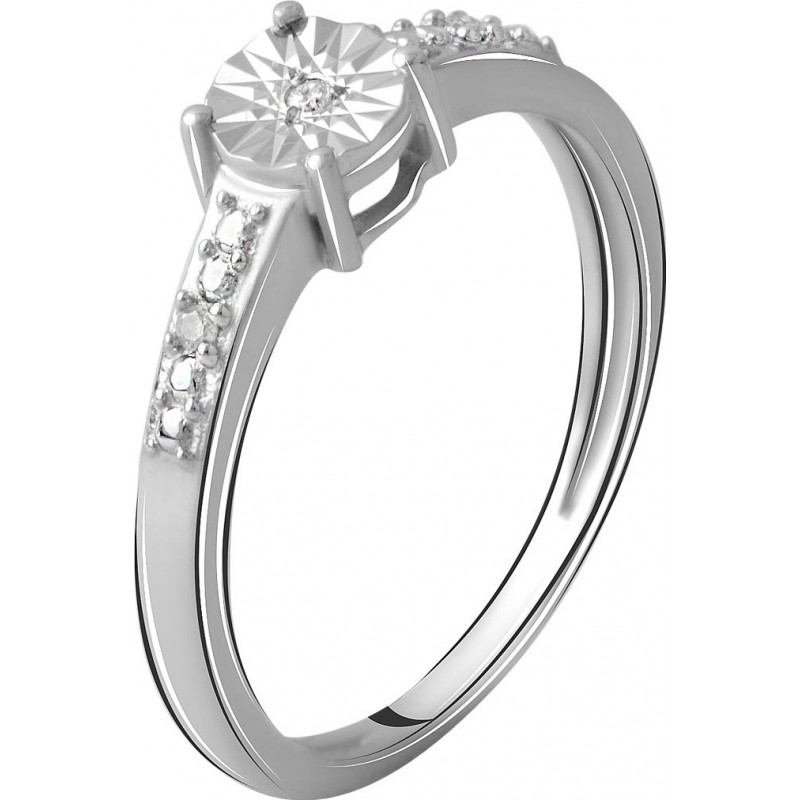 Серебряное кольцо SilverBreeze с натуральными бриллиантом 0.03ct (2064183) 16.5 размер