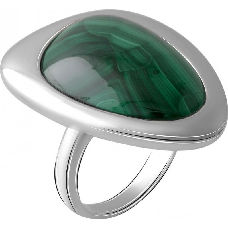 Серебряное кольцо SilverBreeze с малахитом (2064114) 17.5 размер