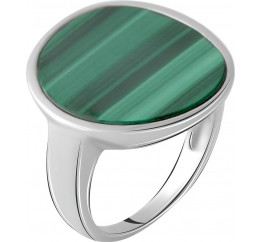 Серебряное кольцо SilverBreeze с малахитом (2064084) 17 размер