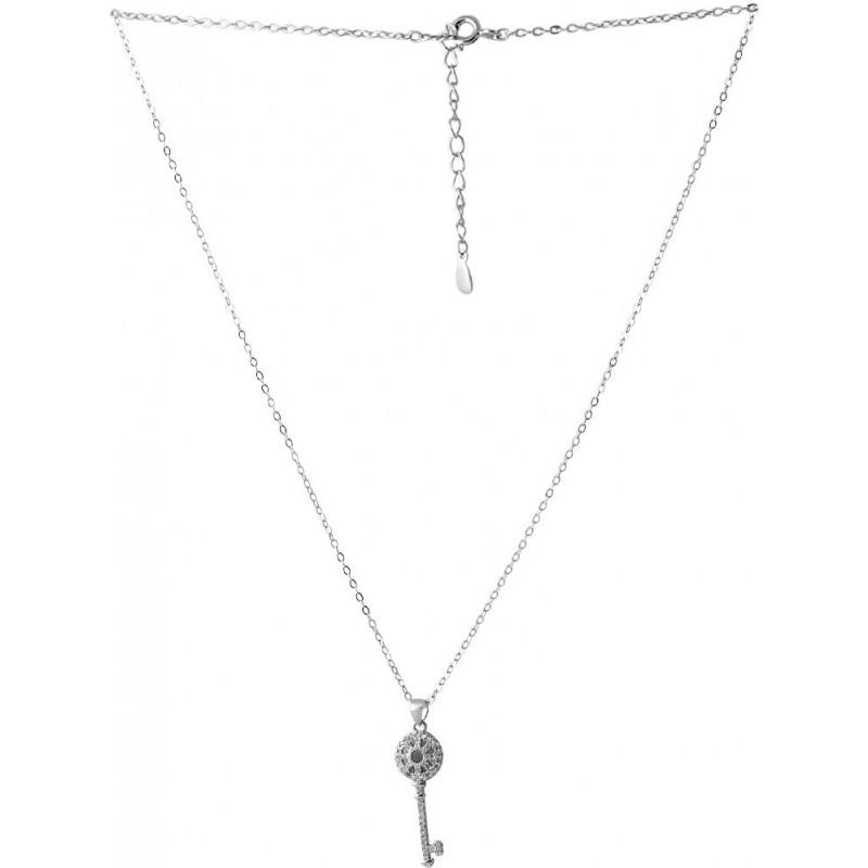 Серебряное колье SilverBreeze с фианитами (2064008) 500 размер