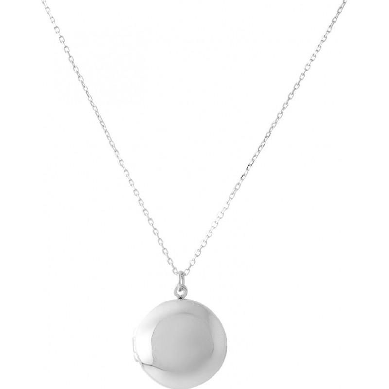Серебряное колье SilverBreeze без камней (2063988) 500 размер