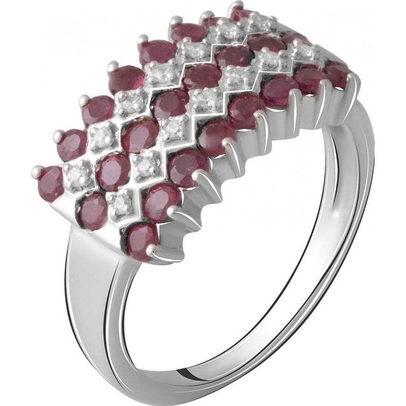 Серебряное кольцо SilverBreeze с натуральным рубином (2063933) 17.5 размер