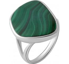 Серебряное кольцо SilverBreeze с малахитом (2063704) 17 размер